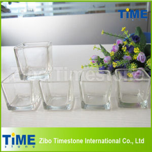 Wholesale Square Clear Glass Candle Holder pictures & photos