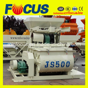 Most Popular Used Js500 Twin Horitontal Shaft Concrete Mixer with Low Price pictures & photos