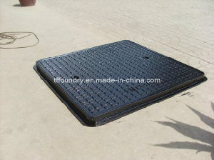 En124 B125 Light Duty Square Manhole Cover with Hyd Closing pictures & photos
