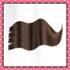 Brown Color PU Hair Tape Hair Extensions Silky 24inches pictures & photos