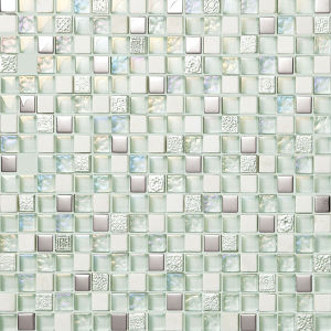 10*10mm White Flat Pebbles Mosaic Tiles for Bathroom Floor pictures & photos