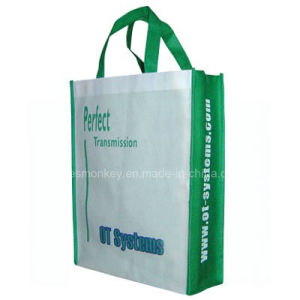 Customized 80GSM Silkscreen Printing Handle Style Non Woven Bag pictures & photos
