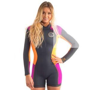 2015 3/2mm Long Sleeve Short Leg Spring Wet Suit for Women pictures & photos