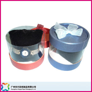 Round Display Box with PVC Body (XC-1-049) pictures & photos