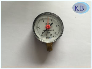 Steel Case Pressure Gauge with Red Adjustable Pointer pictures & photos