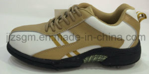Non-Slip and Fashionable Golf Shoes with Studs pictures & photos