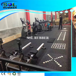 SGS Tested Heavy Duty DIY Logo Gym Rubber Flooring pictures & photos