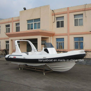 Liya 7.5m Rigid Hull Fiberglass Inflatable Boat with Motor for Sale pictures & photos