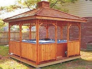 Euope Garden Outdoor Wooden Gazebo (RY-G05)