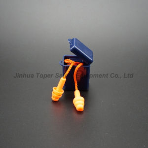 Pocketable Plastic Box Reusable Safety Earplugs (EP606) pictures & photos