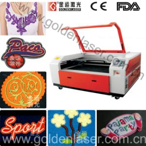 Double Head Auto Recognition Laser Cutting Machine for Badge and Applique (ZDJG-15090)