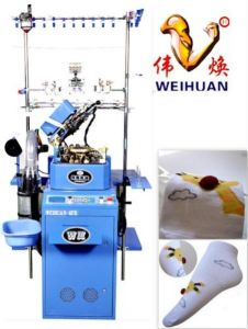 Weihuan (WH) Computeried Single Cylinder Plain Two Colour Elastic Socks Knitting Machine Ship Socks (3D boat socks) Wh-6f-R pictures & photos