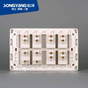 New Electric Switch White Series 6gang+2socket Wall Socket pictures & photos
