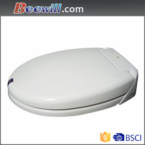 New Style Close Coupled Duroplast Soft Close Slim Light Toilet Seat pictures & photos