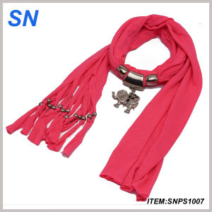 Jewelry Scarf with Elephant Pendant and (SNPS1007) pictures & photos