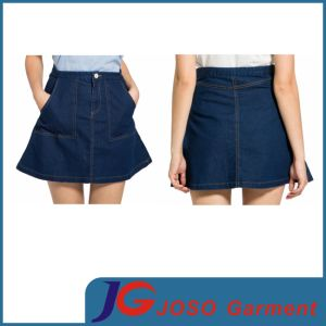 Young Ladies Denim Swing Skirt (JC2104) pictures & photos