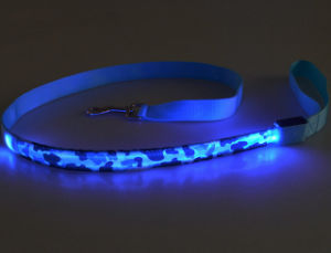 New Custom Fashion Rechargeable LED Dog Leash with Cute Printing