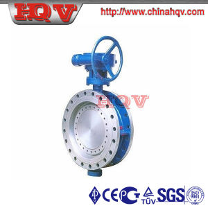 Flanged Metal to Metal Sealing Butterfly Valve with Gear