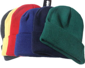 Manufacturer of Custom Blank Long Plain Cuff Beanie Snow Winter Fold Hat Beanie pictures & photos