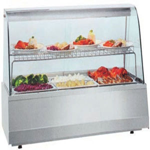 Commercial Food Warmer Glass Display Showcase Restaurant Food Warmer pictures & photos