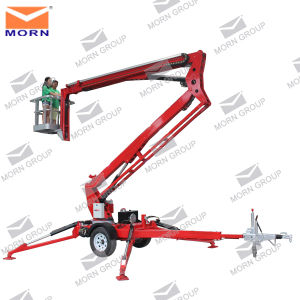Super Quality 14m Trailer Mounted Boom Lift Cherry Picker pictures & photos
