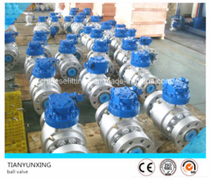 API Gearbox Forged Carbon Steel Flanged Fixed Ball Valves pictures & photos