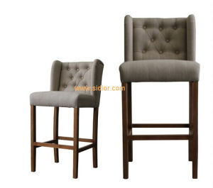 (CL-4403) Luxury Hotel Restaurant Club Furniture Wooden High Barstool Chair pictures & photos