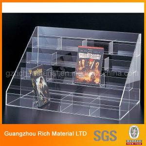 Acrylic Bookshelf/Plastic Acrylic Book Rack/Plexiglass Brochure Holder pictures & photos