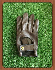 Premium Cabretta Durable Vintage PGA Golf Glove with Colour Leather