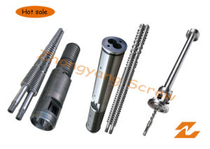 Conical Twin Screw Barrel Double Screw Barrel for PVC Profile Pipe Sheet Granule Extrusion pictures & photos