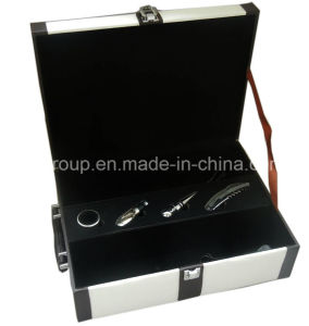 Fashion High Quality Leather White Wine Packing Box pictures & photos
