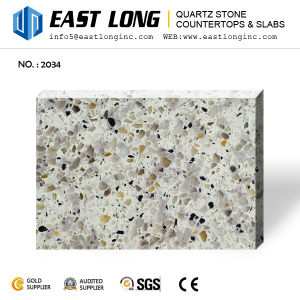 Granite Color Artificial Quartz Stone for Vanity Tops with Solid Surface pictures & photos