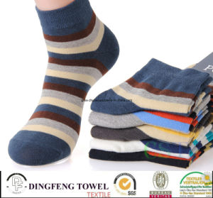 High Quality Colorful Wide Stripy Mans Cotton Socks pictures & photos
