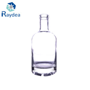 500ml Clear Round Frosted Vodka Glass Bottle pictures & photos