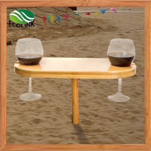 Bamboo Wine Cup Holder / Outdoor Wine Bamboo Table pictures & photos
