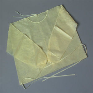 Nonwoven Disposable Tie-Back Yellow Isolation Gown for Medical Use pictures & photos
