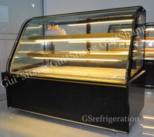Curved Glass& Marble Cake Commercial Showcase