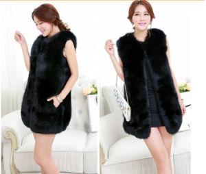 Fashion Style Faux Fox Fur Vest Qy-V33 pictures & photos