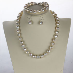 Snh Nautral Hot Sale Fresh Water Pearl Necklace Set pictures & photos