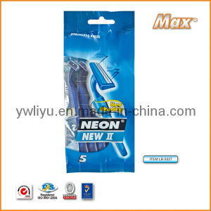 Twin Stainless Steel Blade Disposable Shaving Razor (LB-5027) pictures & photos
