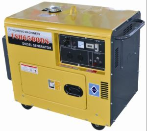 5kw Portable Silent Type Diesel Generator 6500ds Powered by 186f pictures & photos