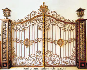 Luxurious Design Hand-Crafted House Used Wrought Iron Gates pictures & photos