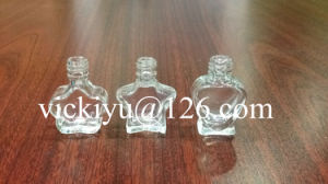 Heart-Shaped Small Glass Bottles, Star-Shaped Glass Nail Polish Glass Bottles