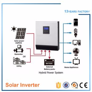 Hybrid off Grid Solar Inverter 5kVA 4000W DC 48V to AC 220V/MPPT Solar Charger 60A pictures & photos
