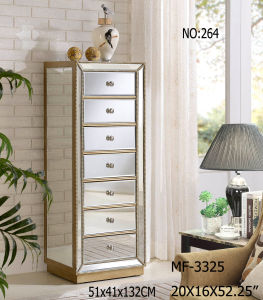 Hot Sell 7 Drawers Antique Silver Night Stand Cabinet pictures & photos