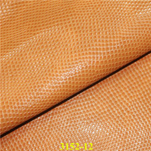 Popular Snake PU Vegan Leather for Fashion Lady`S Bags pictures & photos