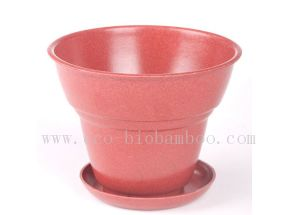 Biodegradable Natural Bamboo Fiber Flower Pot (BC-F1001) pictures & photos