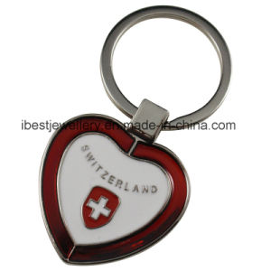 Alloy Key Chain with Switzerland Logo (KW001)