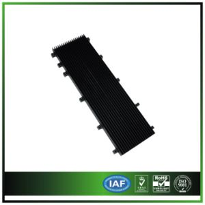 Extruded Aluminum & Anodized Black Heatsink for Communication /Server pictures & photos