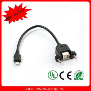 Panel Mount Micro 5pin Extension Cable (NM-USB-1351) pictures & photos